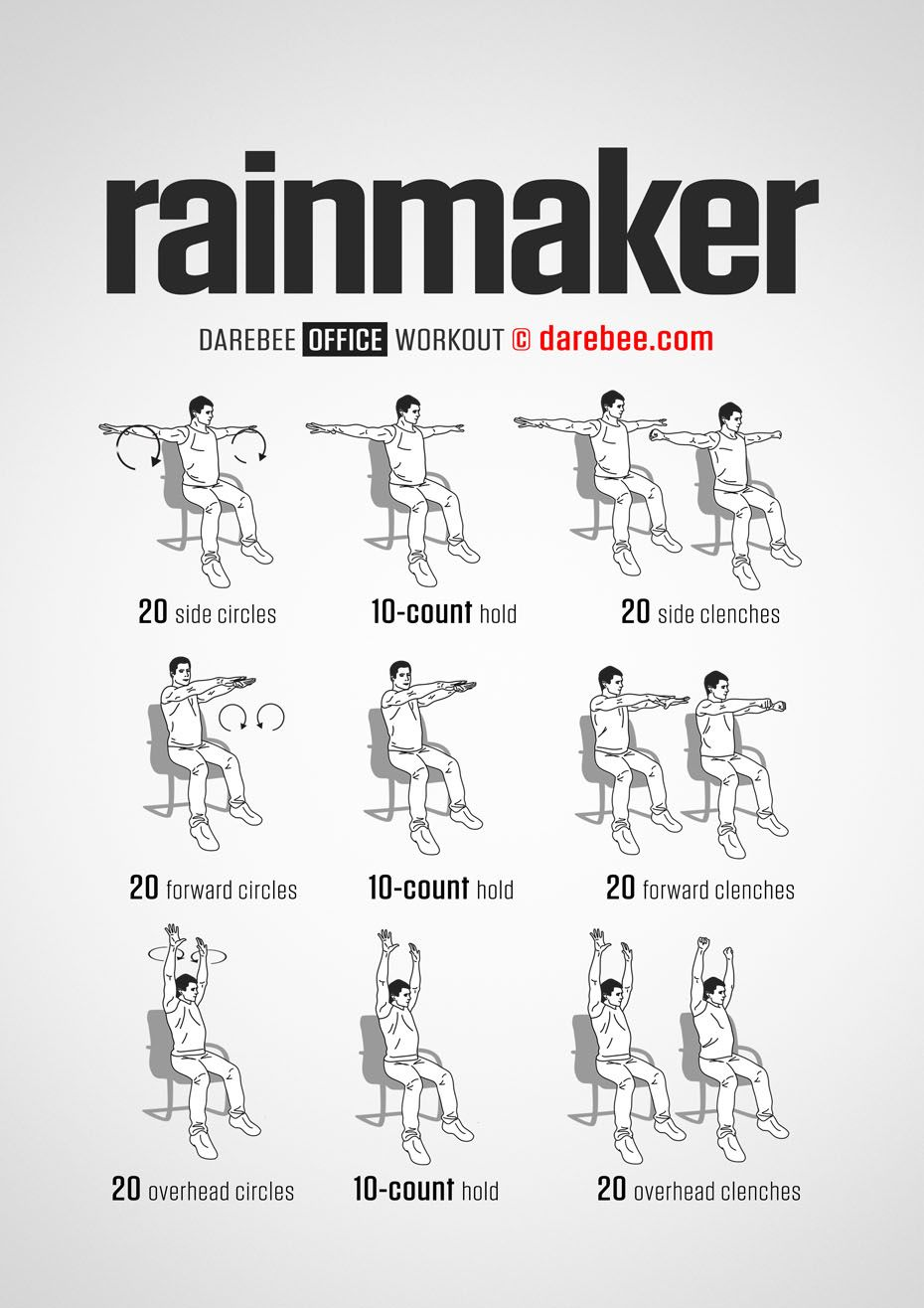 Rainmaker Workout Workout at work, Office exercise
