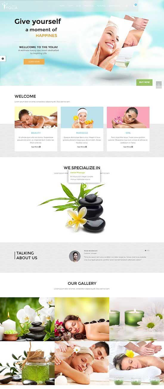 Yolia-Beauty-Spa-WordPress-Theme | Beauty Care Themes | Pinterest
