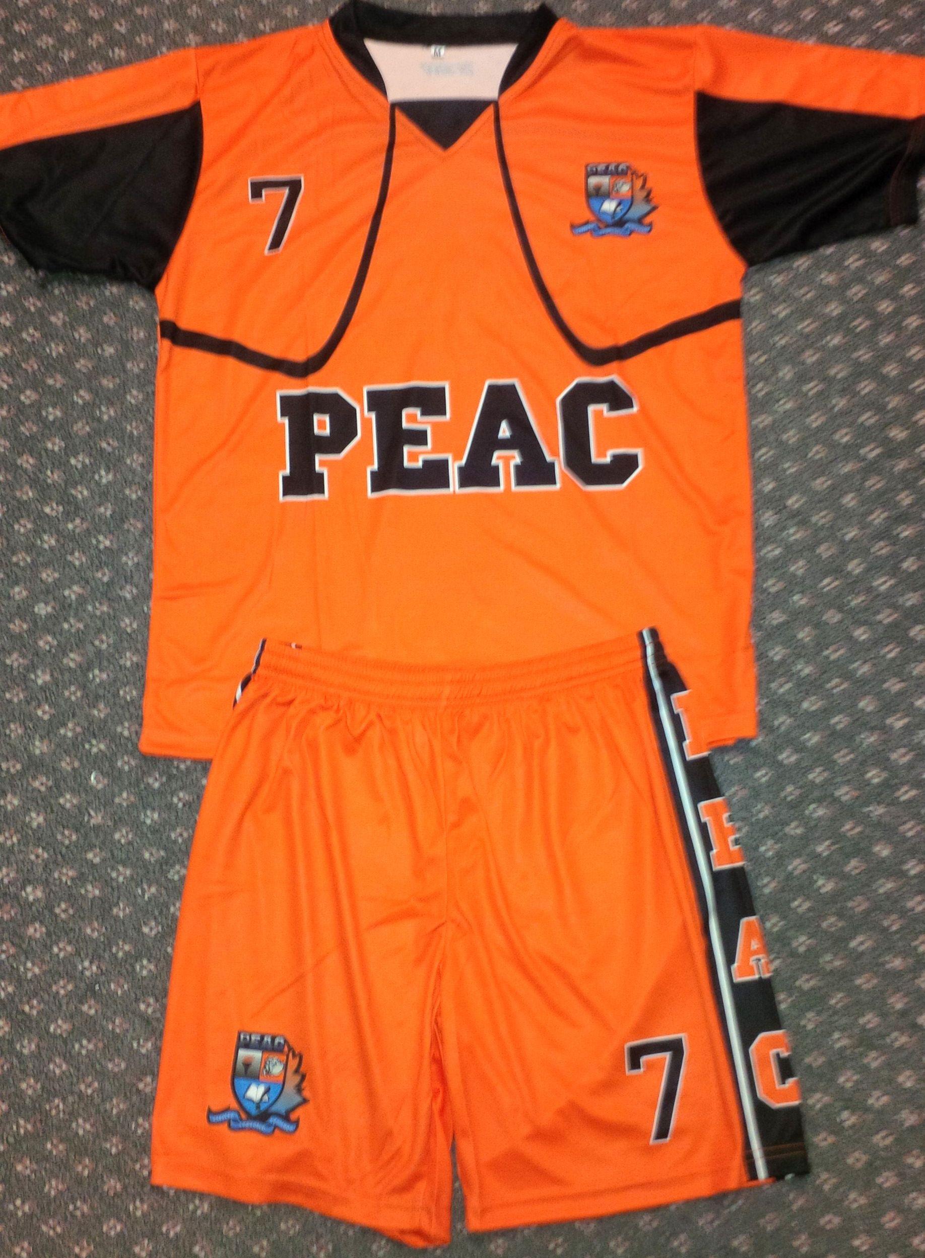 Custom sublimated soccer uniform for P.E.A.C.  GitchSW Facebook - Gitch  Sportswear 05c8bbbb4