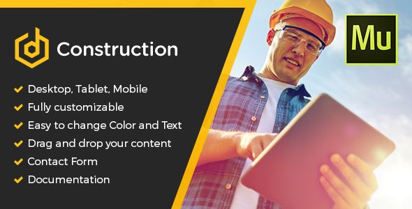 nice dConstruction Muse Template (Corporate) ThemeForest - construction change order form