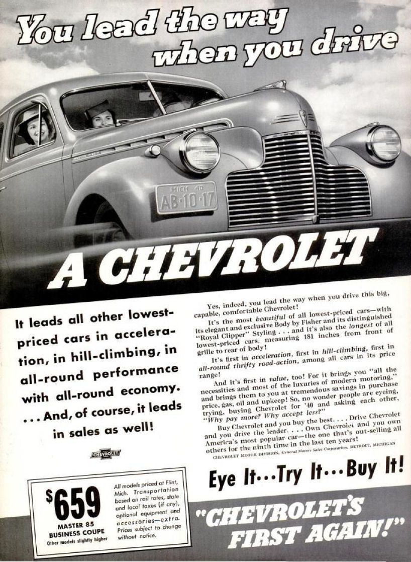 1940 advertisements | old car ads home | old car brochures | old car manual  project .