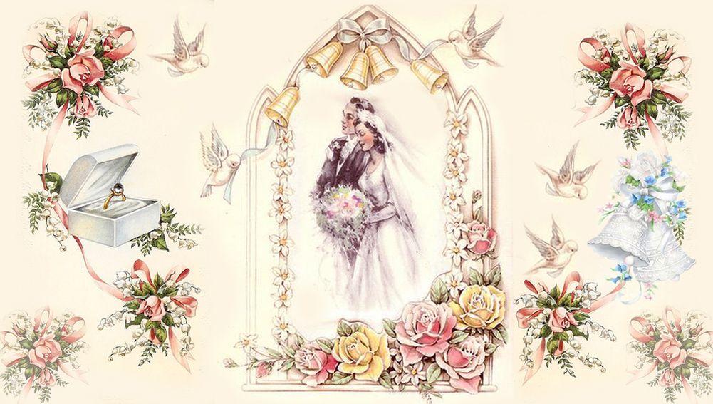 Картинки свадьба винтаж