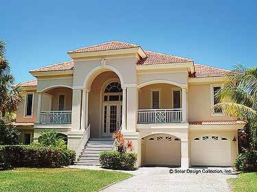 moorish period design mediterranean home plans house plans one two story floor - Mediterranean Homes Design