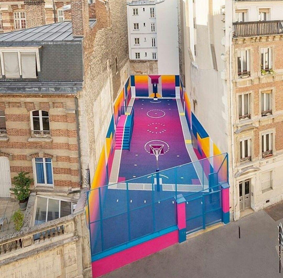 Basketball court in paris inspiration landscape for Raumgestaltung rosenheim