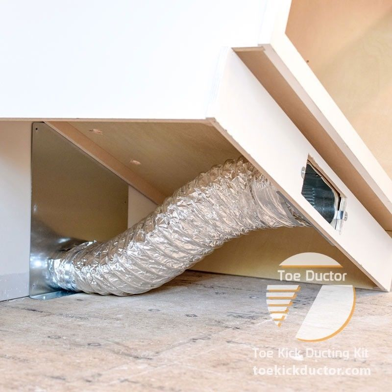 Toe Ductor Wall Vent Under Cabinet Toe Kick Ducting Kit ...