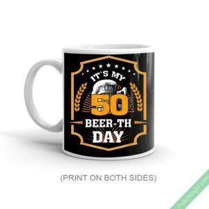 50Th Birthday Gift Beer It'S My 50 Beer-Th Day Mug #moms50thbirthday 50 years of age birthday special gift, born in 1967. Your 50th birthday Mug, 50th birthday, 50th. Birthday gift idea for people who love drinking beer and anyone who is turning 50 year old. Perfect Present for a birthday party Great Father's Day, Mother's Day, Christmas, or Retirement gift for Dad or Mom. Special and [...] #moms50thbirthday 50Th Birthday Gift Beer It'S My 50 Beer-Th Day Mug #moms50thbirthday 50 years of #moms50thbirthday