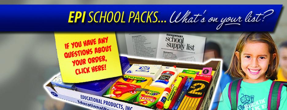 School Apparel School Supply Packs Fundraisers