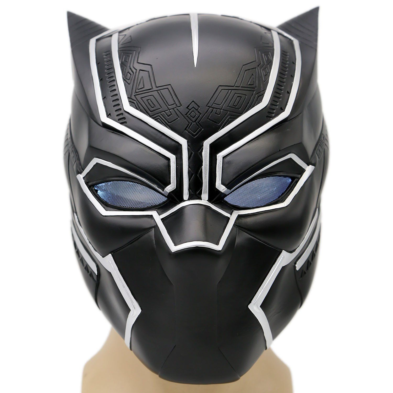 Halloween Marvel Superhero Black Panther Costume Face LED Mask Adults Kids USA