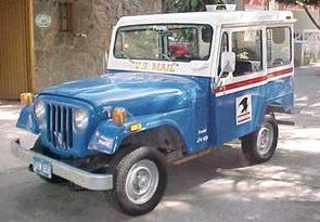 The Postal Jeep Pushes The Envelope Mail Truck Jeep Postal