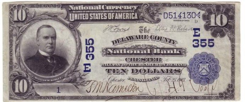 Value Of 1910 Ten Dollar Bill 1910 10 Bill Bank Notes Old Money Paper Currency