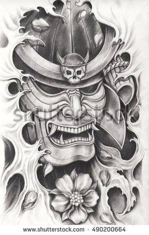 resultado de imagem para samurai tattoo tatoo tatouage tatouage japonaise et tatouage samourai. Black Bedroom Furniture Sets. Home Design Ideas