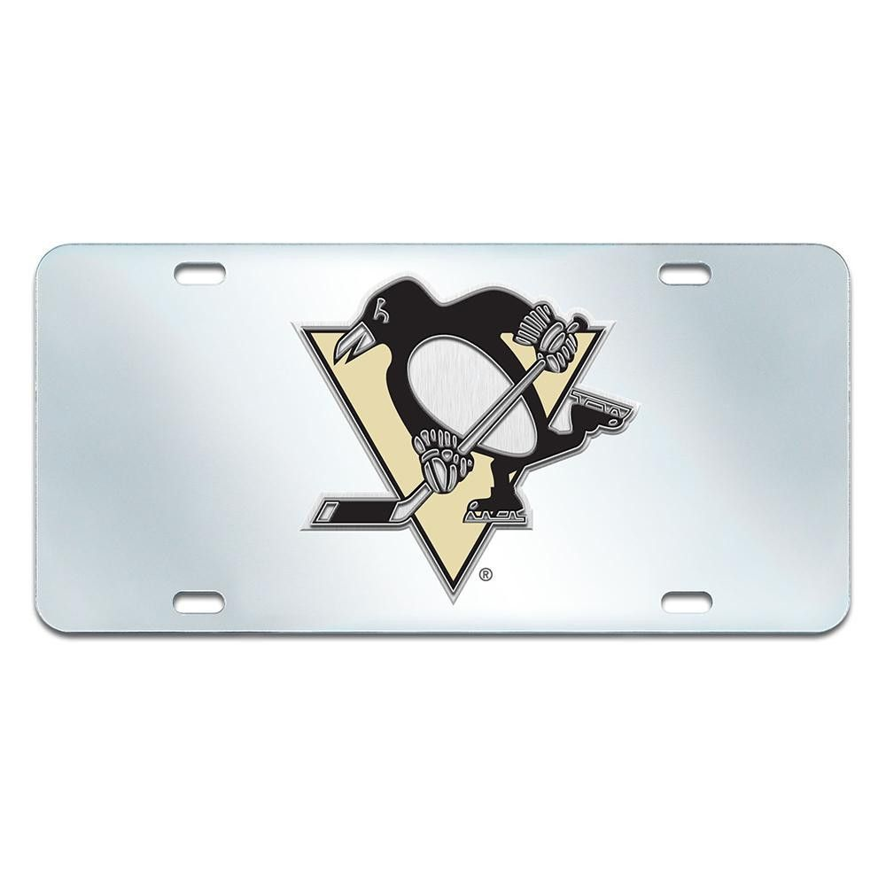 Pittsburgh Penguins NHL License Plate-Inlaid | Pittsburgh penguins ...