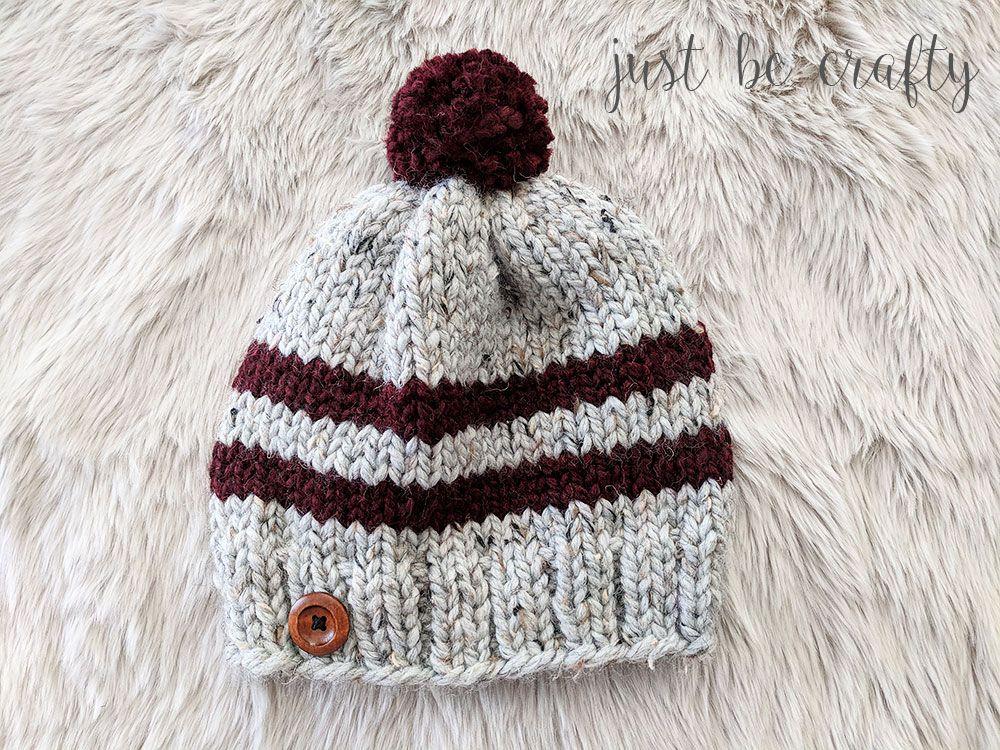 Lake Erie Chunky Skit Hat Pattern - Free Pattern by | Gorros, Tejido ...