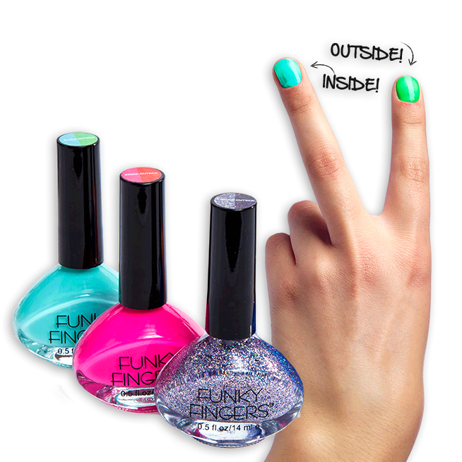 Blue Nail Polish One Finger: Funky Fingers Nail Color Is A 3-free Formula And Made In