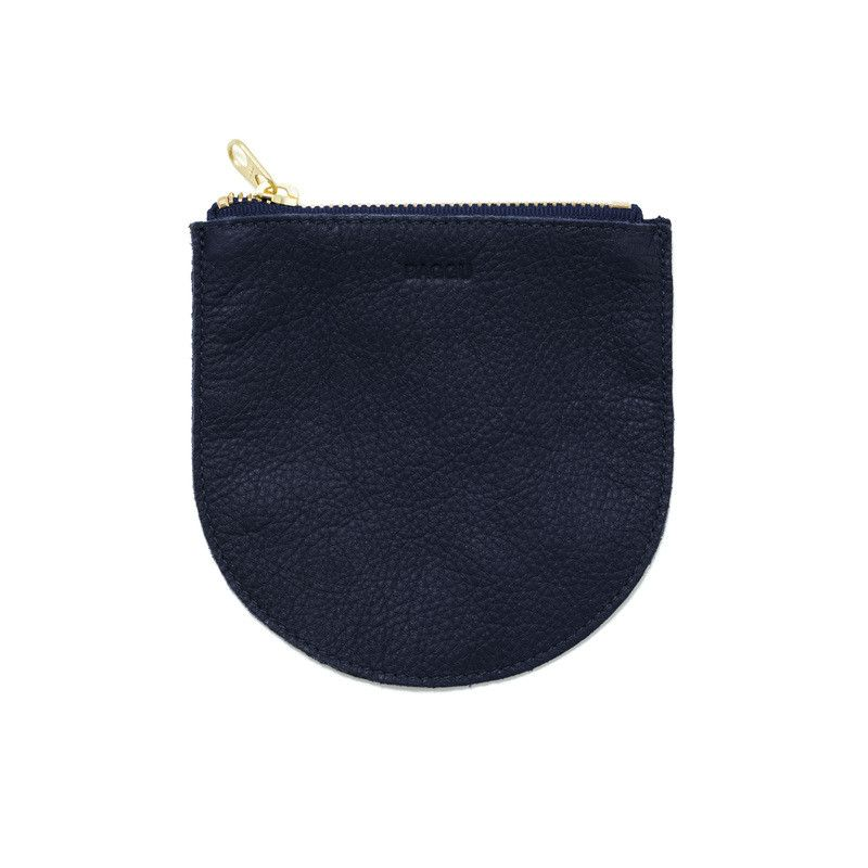 Baggu Small Leather Pouch | Navy