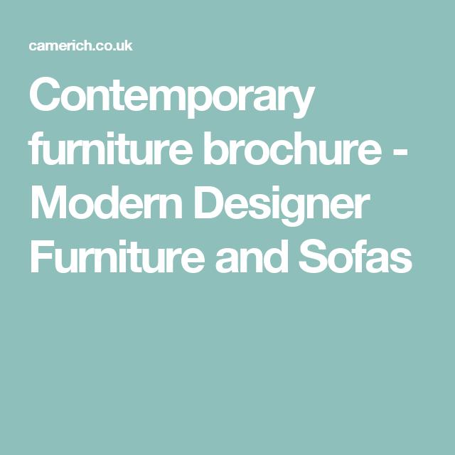 Contemporary furniture brochure - Modern Designer Furniture and Sofas