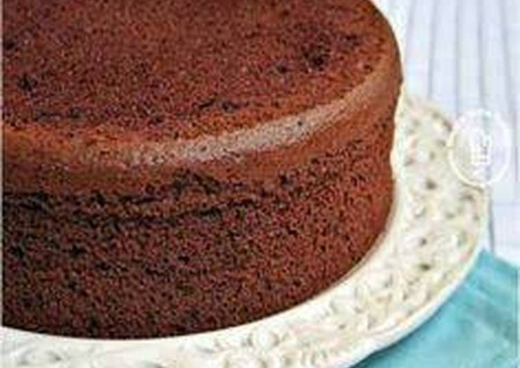 Eggless Chocolate Sponge Cake Recipe Cakes And Bread