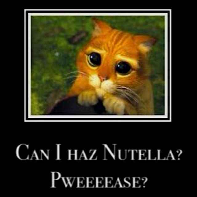 This is my face when I want nutella