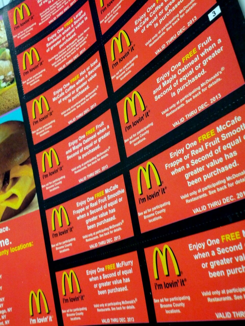 Coupons have become everyones favorite these days and everyones mcdonalds coupons from savearound broome county 2013 coupon book xflitez Images