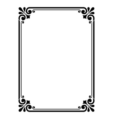 simple ornamental decorative frame vector 652257 by 100ker on vectorstock - Decorative Frames