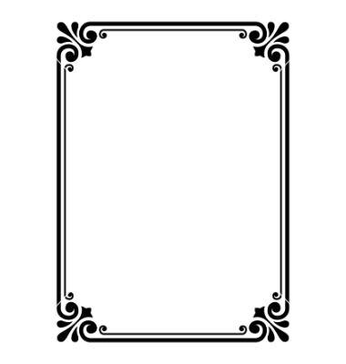 Simple Ornamental Decorative Frame Vector 652257 By 100ker On Vectorstock Frame Border Design Page Borders Design Simple Borders