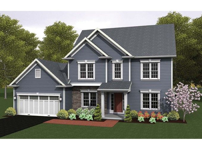 Colonial House Plan With 1939 Square Feet And 4 Bedrooms From Dream Home Source House Plan Code Dhsw07597 Colonial House Plans House Plans Family House Plans