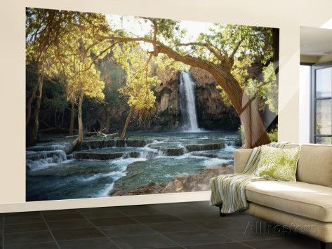 Superb Great Scenic View Of A Waterfall On Havasu Creek Wall Mural U2013 Large By  W.E. Garrett Home Design Ideas