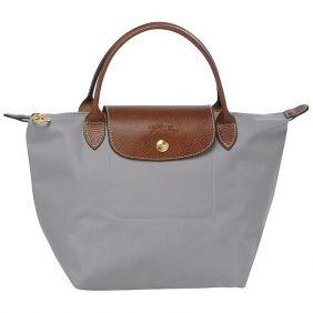 aa33b1131c632 Longchamp Le Pliage Kleine Folding Short Handle Handtaschen Grau   LongChamp  online shop