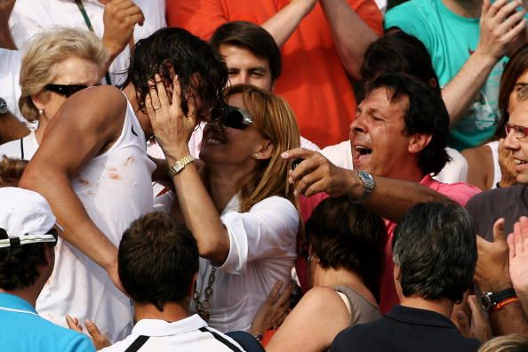 Rafael Nadal Of Spain Runs To The Stands To See His Family After Rafael Nadal Rafa Nadal Running