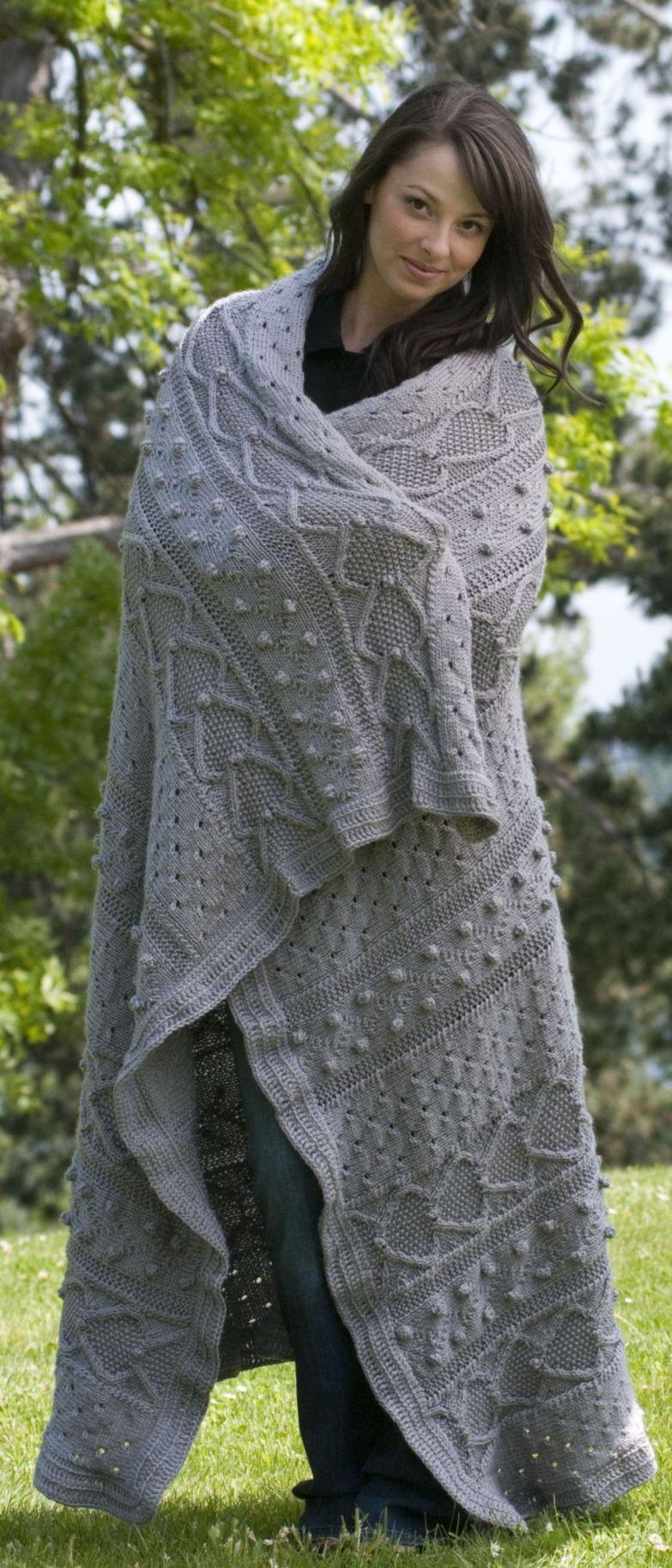 Elegance Afghan knit in machine-washable Cascade Pacific yarn. Fun ...