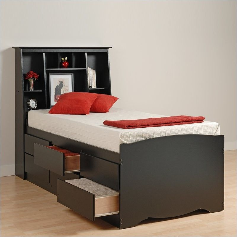 Twin Xl Bed Frame Small Bedroom Storage Bed