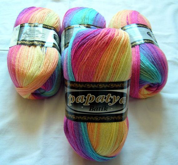 Batik design yarn baby friendly hypoallergenic soft by HandyFamily, €4.40