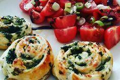 Blätterteig - Spinat - Schnecken