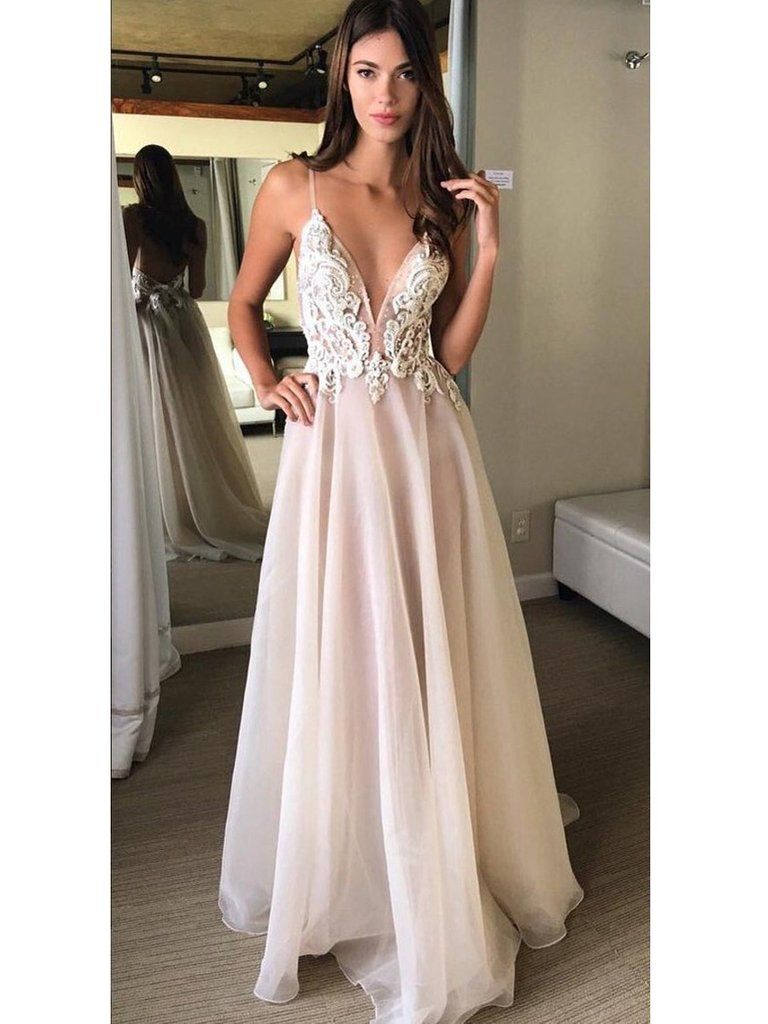 Prom dresses chiffon white lace long halter prom dressevening dress