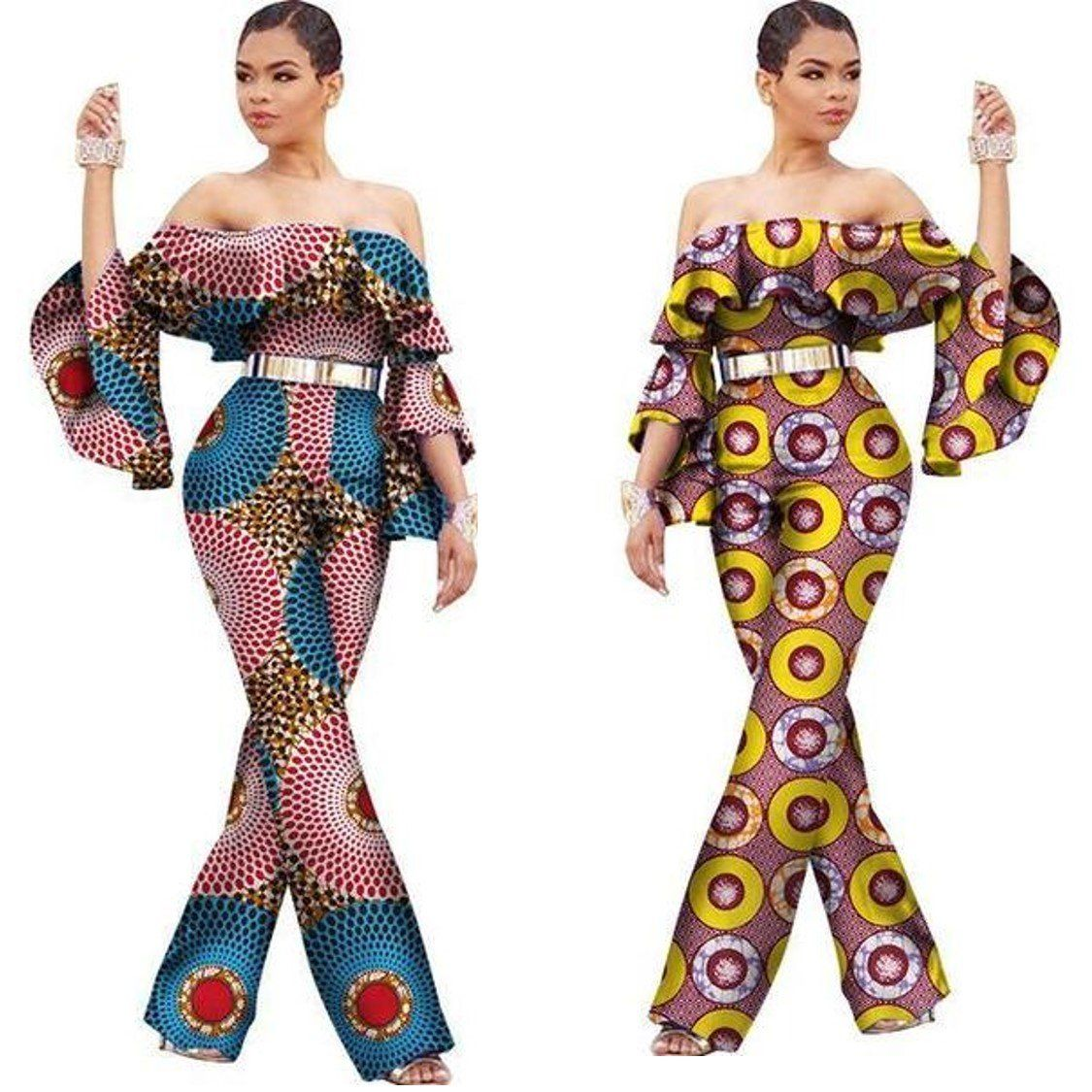 ba9a3b9ec7a82 Item Type  Africa Clothing   Type  Romper Jumpsuit   Gender  Woman   Fabric   Cotton Wax