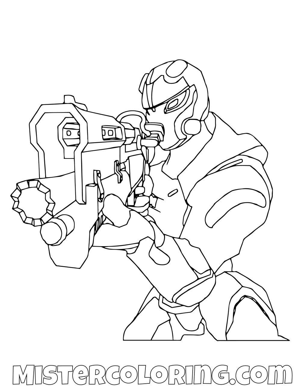 Fortnite Coloring Pages Omega Images