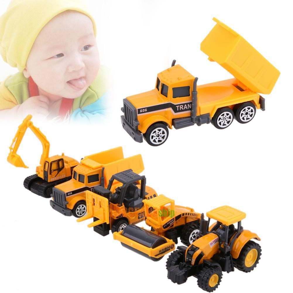 781 5pcs Alloy Car Truck Models Kids Children Toy Gift Set 1 Bricks Decool 7111 Tumbler 164 Scale Ebay Collectibles
