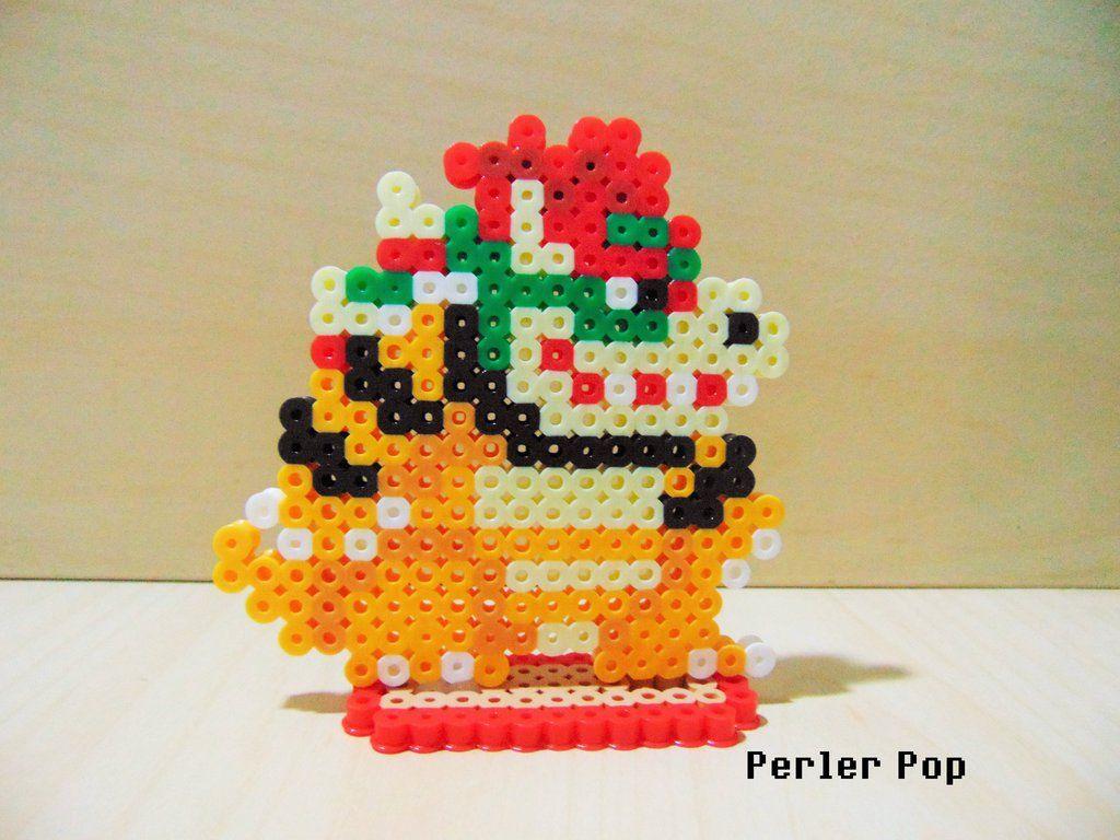 Super Mario Maker Bowser Perler by Perler-Pop   ♡ perler ...