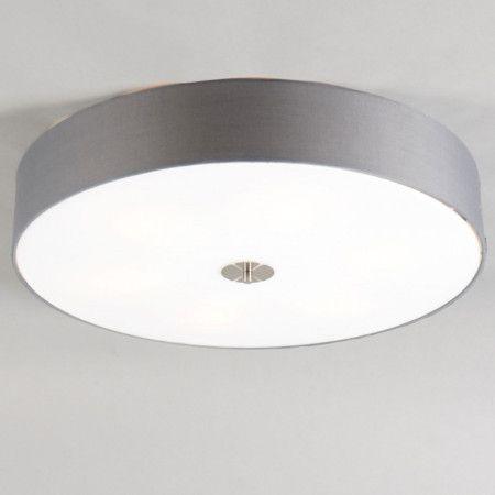Deckenleuchte Drum 70 rund grau #Deckenleuchte #Stoffschirm - led lampen wohnzimmer