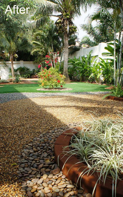 Modern low maintenance tropical garden jardim ou quintal for Modern low maintenance garden ideas