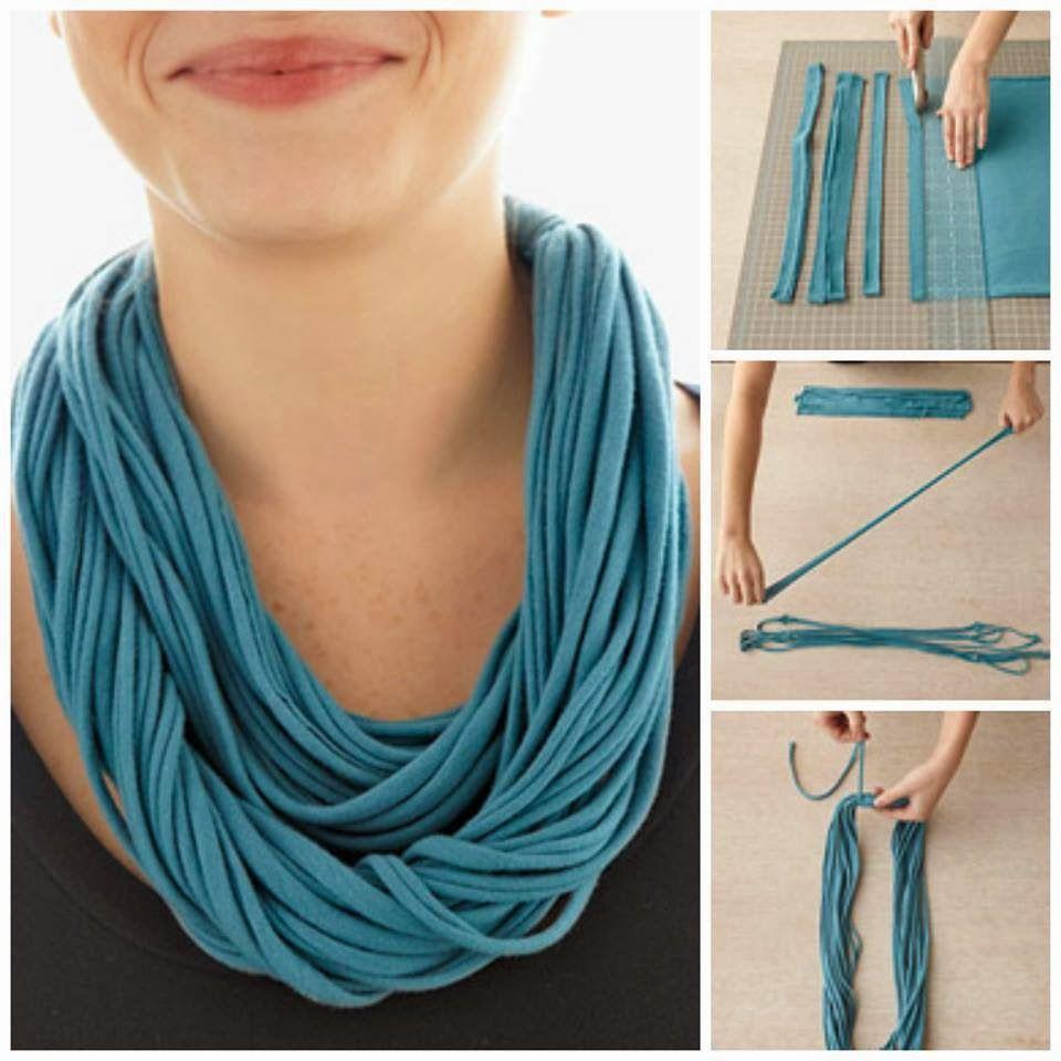 Gör halsband av en t-shirt