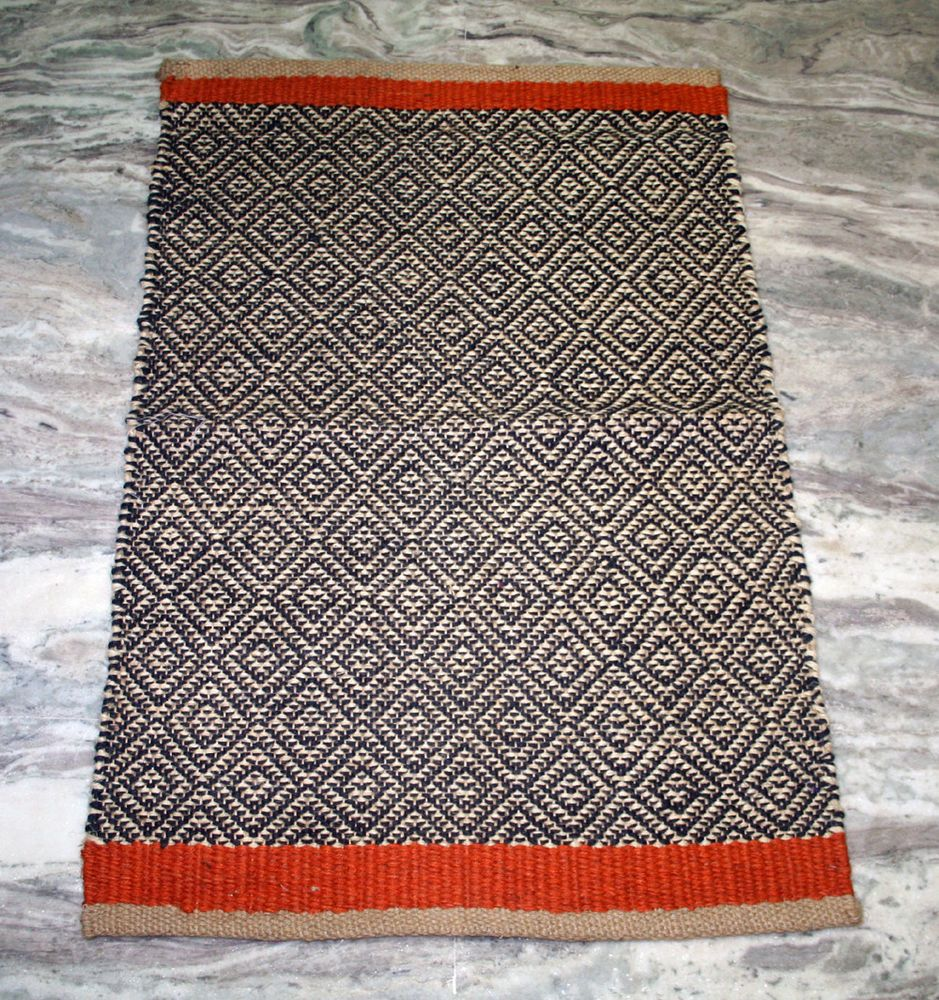 Vintage Turkish Kilim Small Door Mat Rug Carpet Hand Woven Handmade