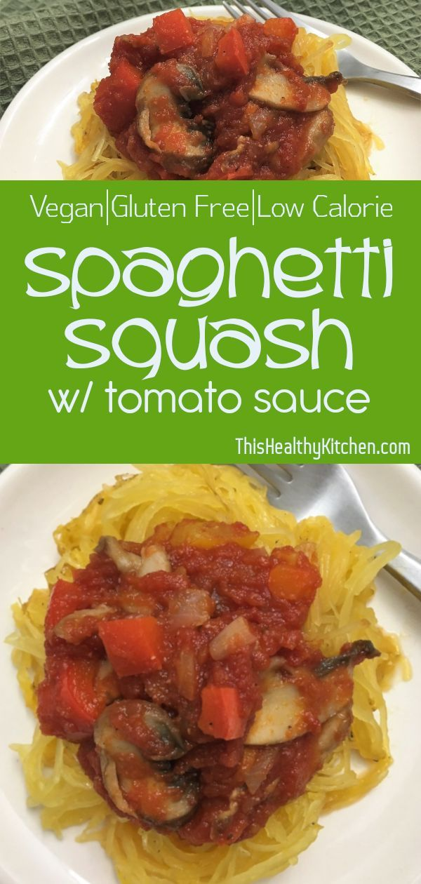 Roasted Spaghetti Squash With Tomato Sauce