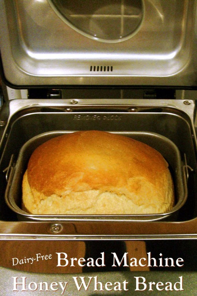 Honey Whole Wheat Bread in the Bread Machine (Dairy-Free)
