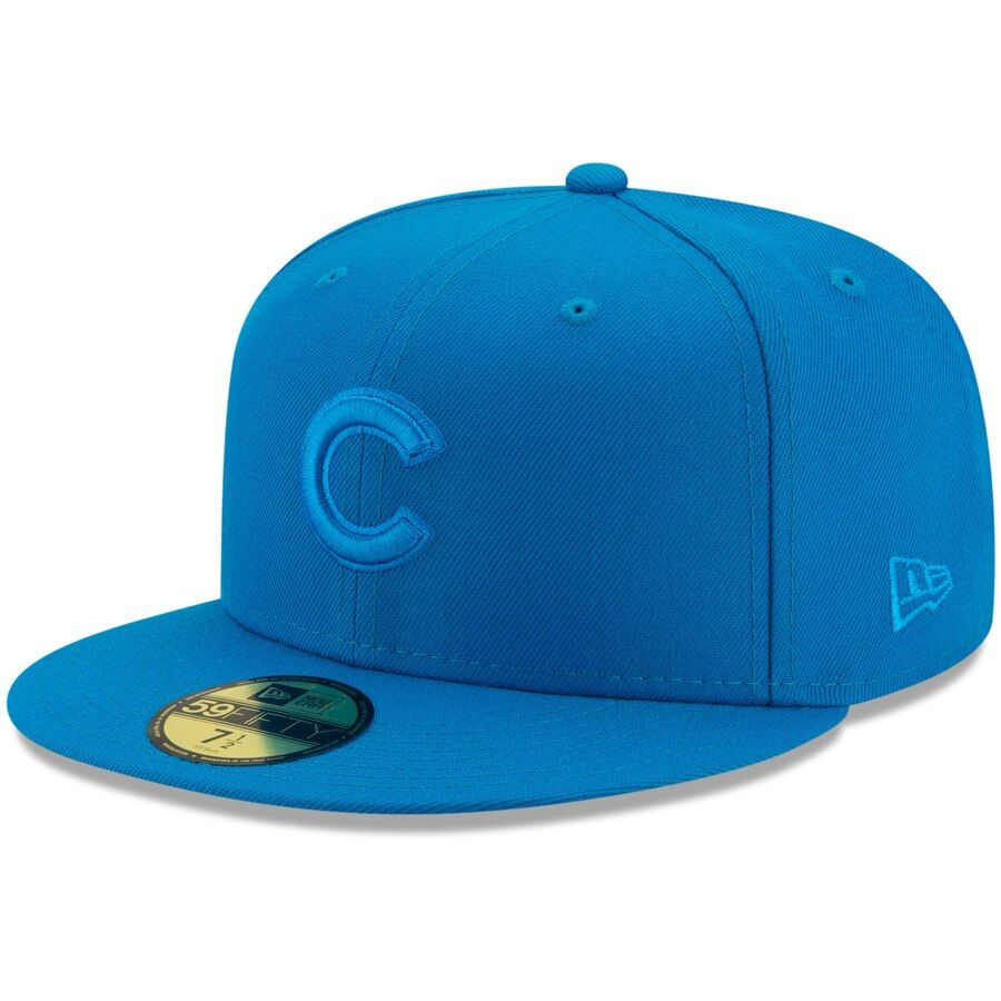 Mens chicago cubs new era blue spring color basic 59fifty