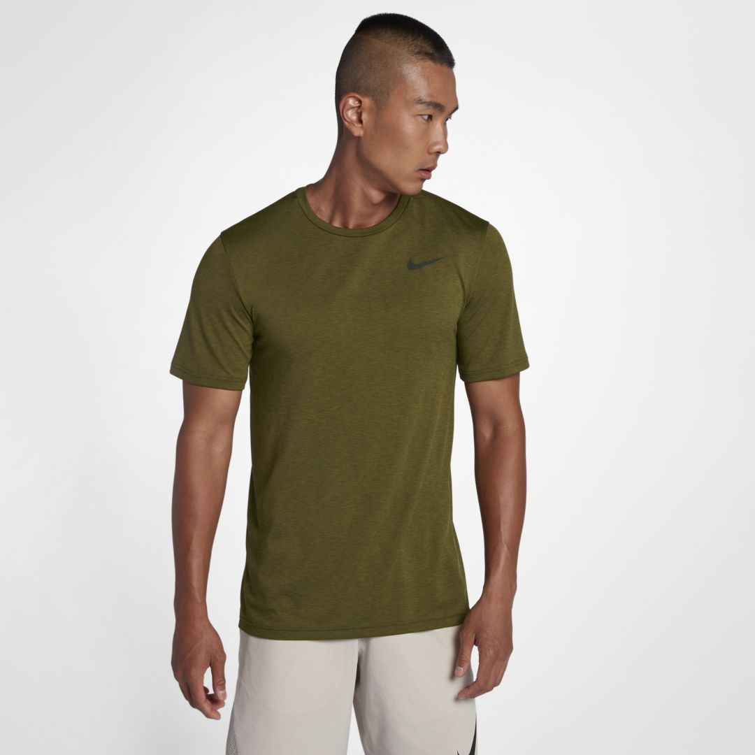 aa2ef07373f09 Nike Breathe Men's Short Sleeve Training Top Size 2XL Tall (Olive Flak)