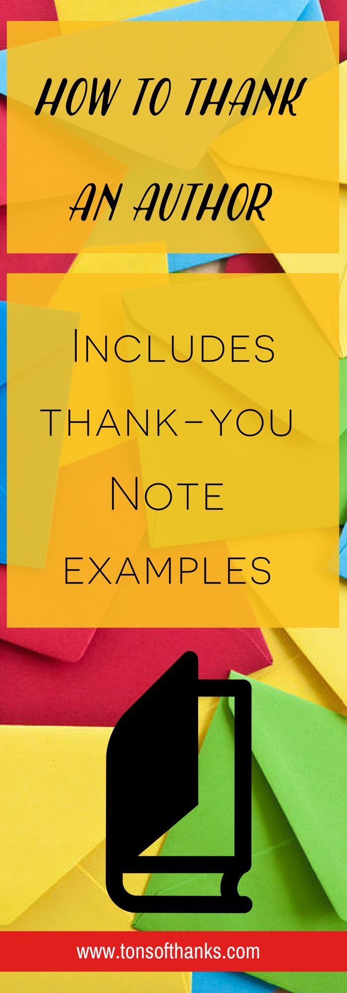 A Thank You To An Author  Authors And Note