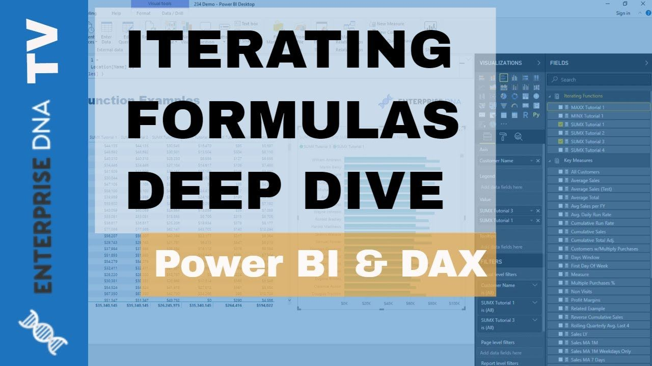 Discover Iterating Functions On How To Use Sumx Averagex Minx Maxx In Powerbi W Dax Dax Power Techniques