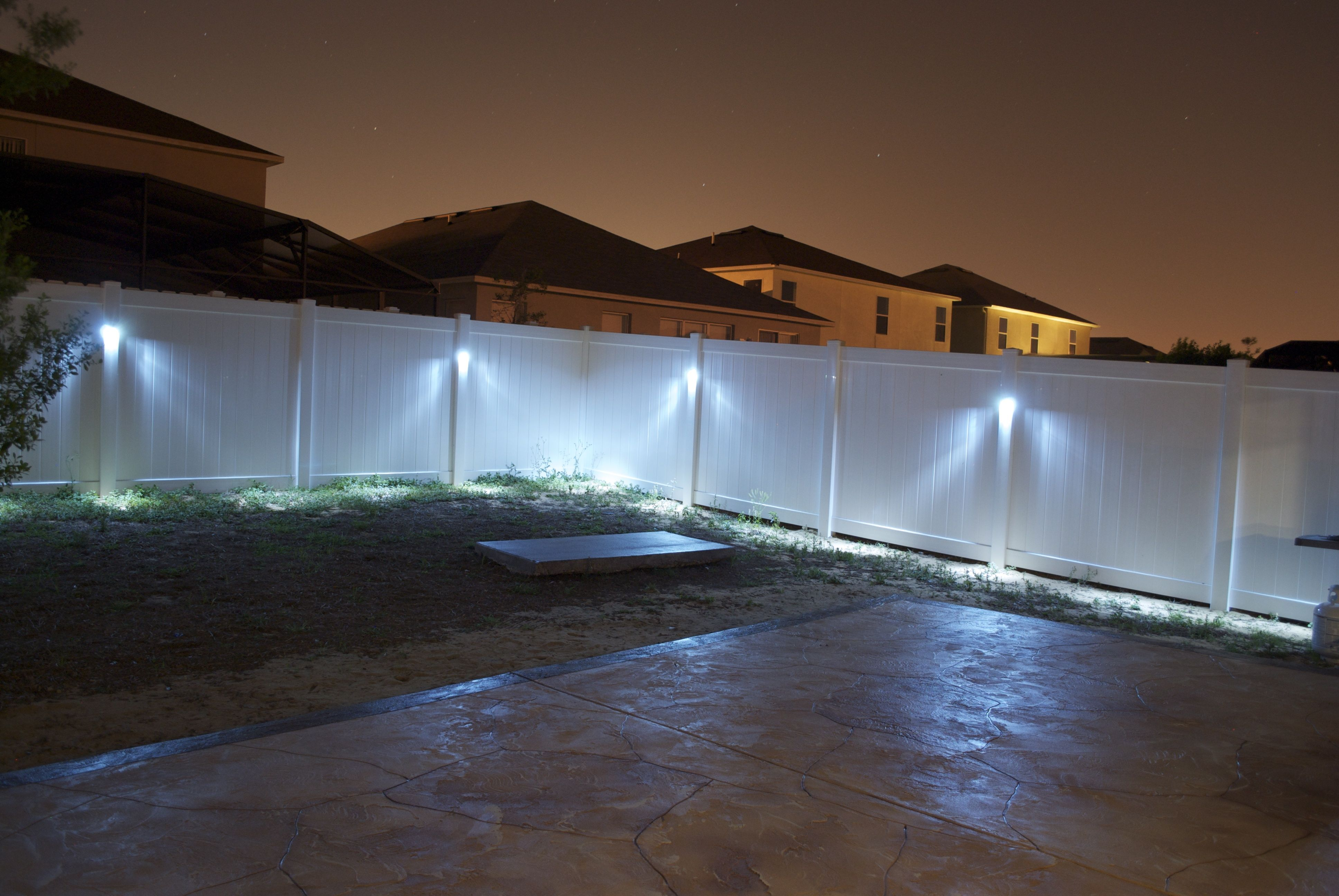 Additional Outdoor Lighting Ideas Patio Fence Vinyl Fence
