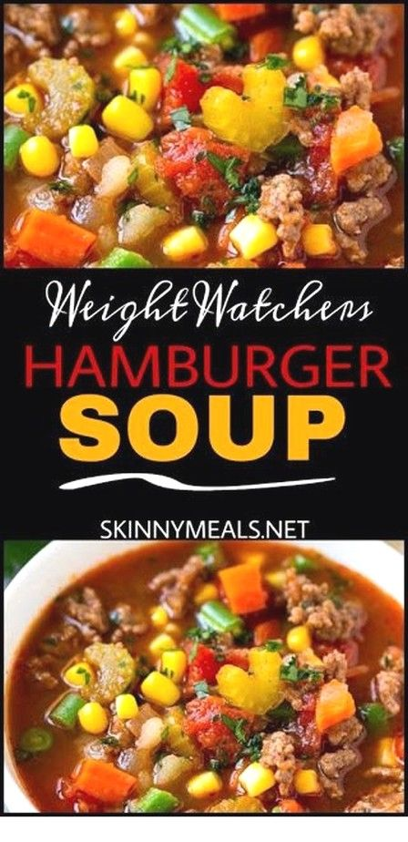 Easy Soup Recipes Ideas   Hamburger Soup images